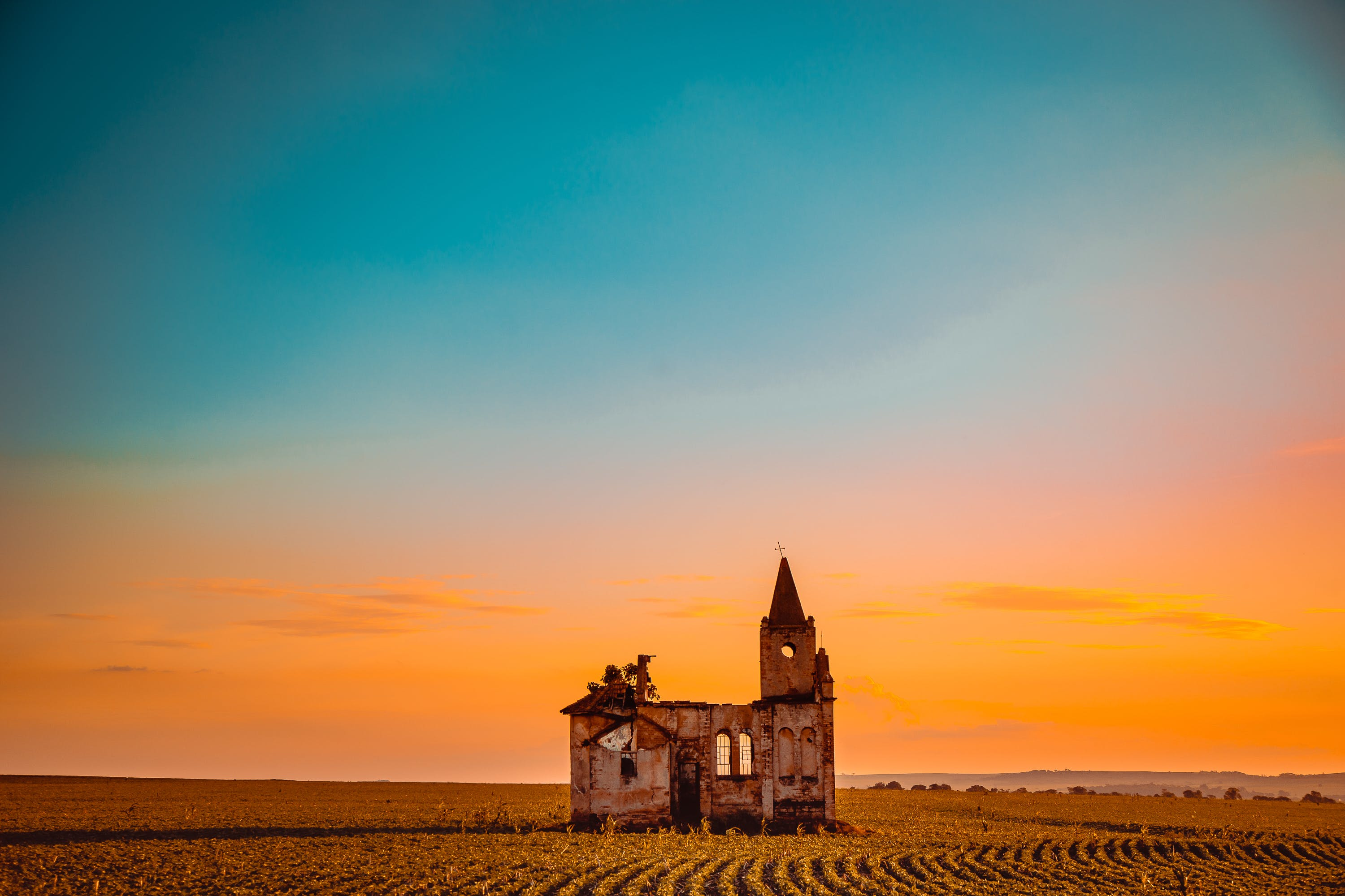 Landscape Photography of House and Sky
