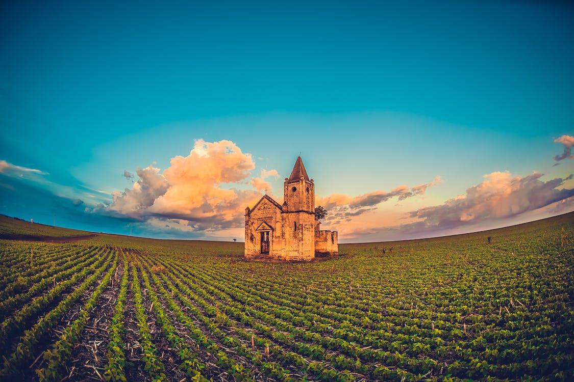 Church In Open Field