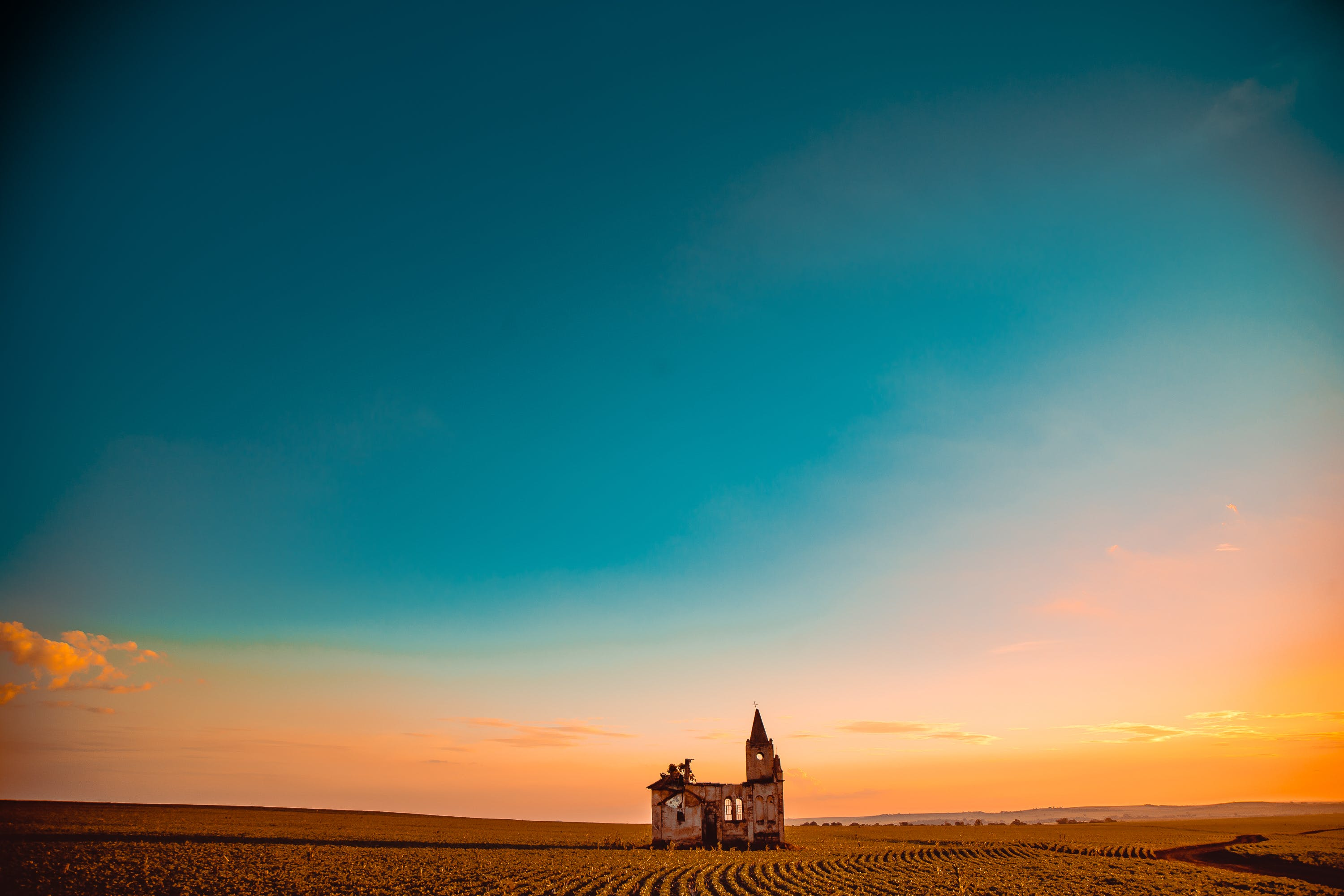 Church In The Middle Of A Field
