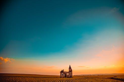 Foto stok gratis bidang, Fajar, lahan pertanian, langit