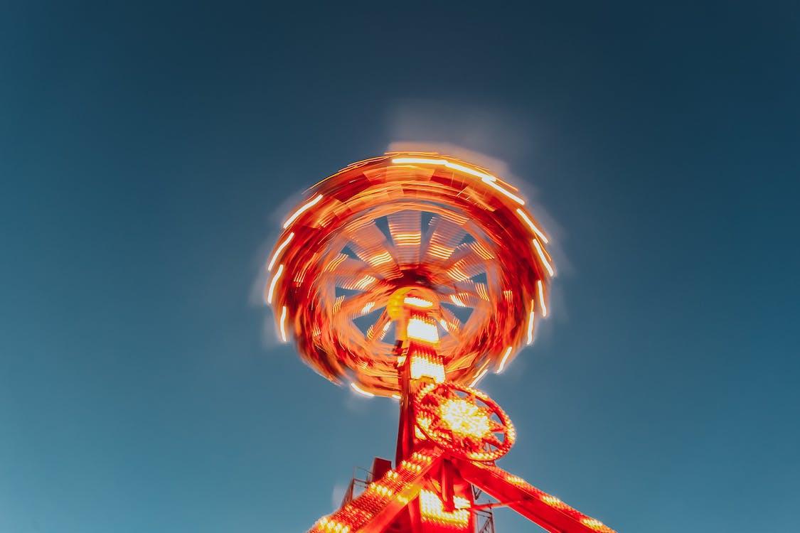 ajaa, karnevaali, pitkä valotus