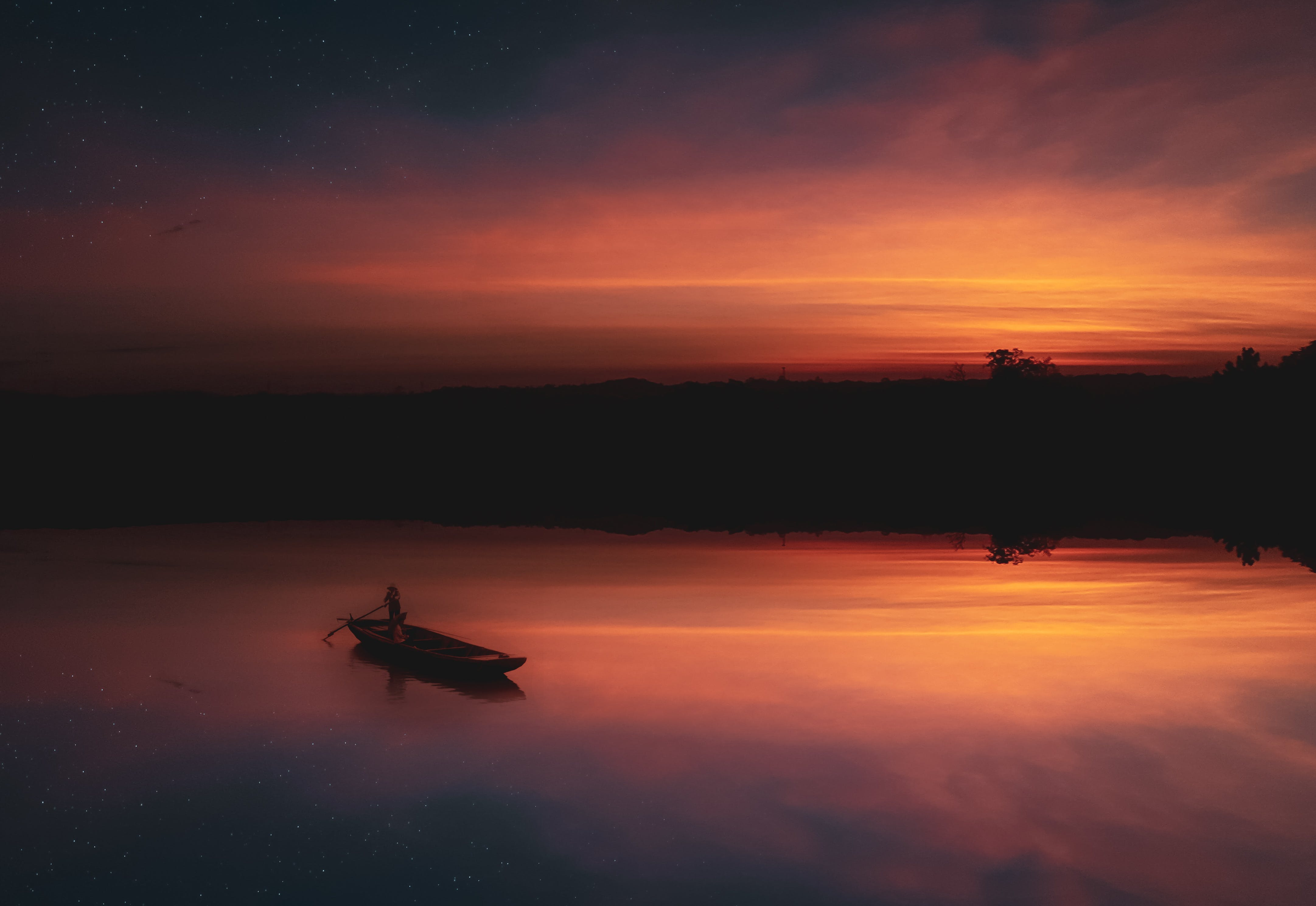 Základová fotografie zdarma na téma člun, HD tapeta, horizont, krajina