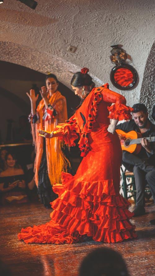 댄서, 바르셀로나, 스페인, 플라멩코의 무료 스톡 사진