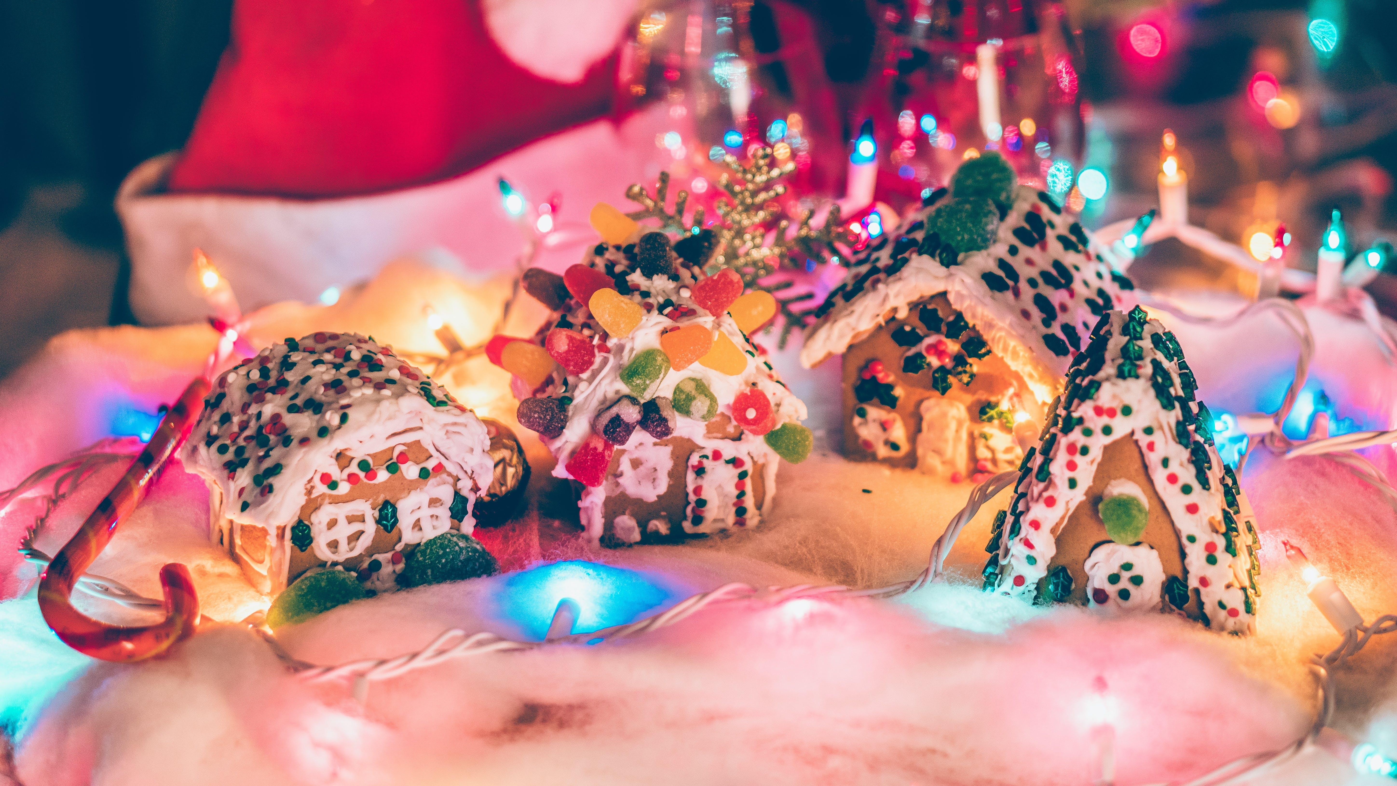 燈光, 薑餅, 薑餅屋, 裝飾 的 免費圖庫相片