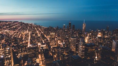 Ảnh lưu trữ miễn phí về bến tàu hải quân chicago, chicago, đêm, đường chân trời