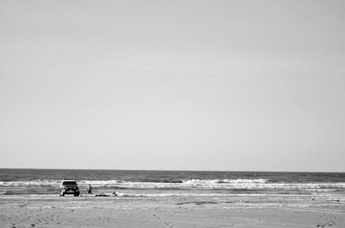 Kostenloses Stock Foto zu #abenteuer #die landschaft #beach #see #blackandwhite