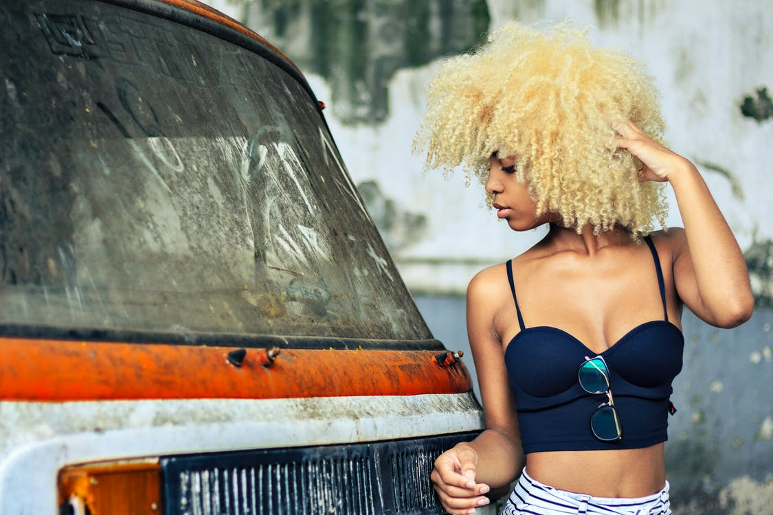 автомобиль, активный отдых, блондинка