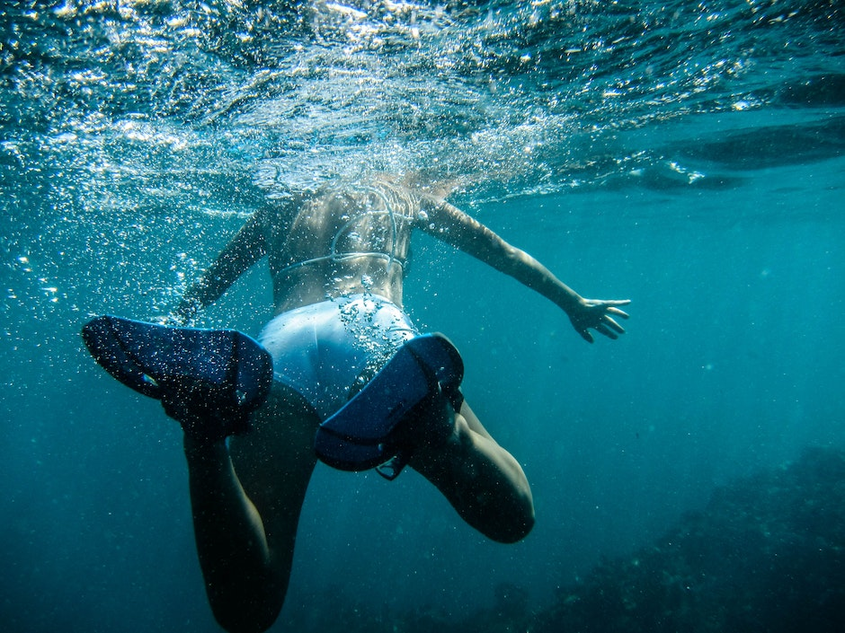diving, person, salt water