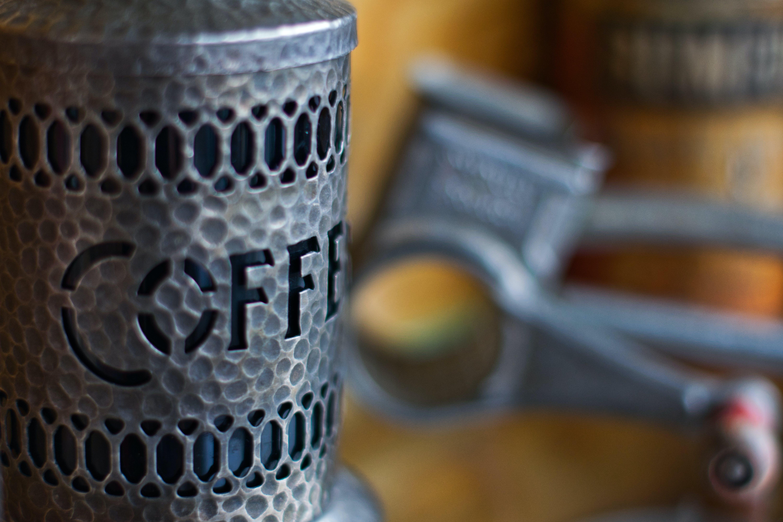Kostenloses Stock Foto zu antik, kaffee, zinn