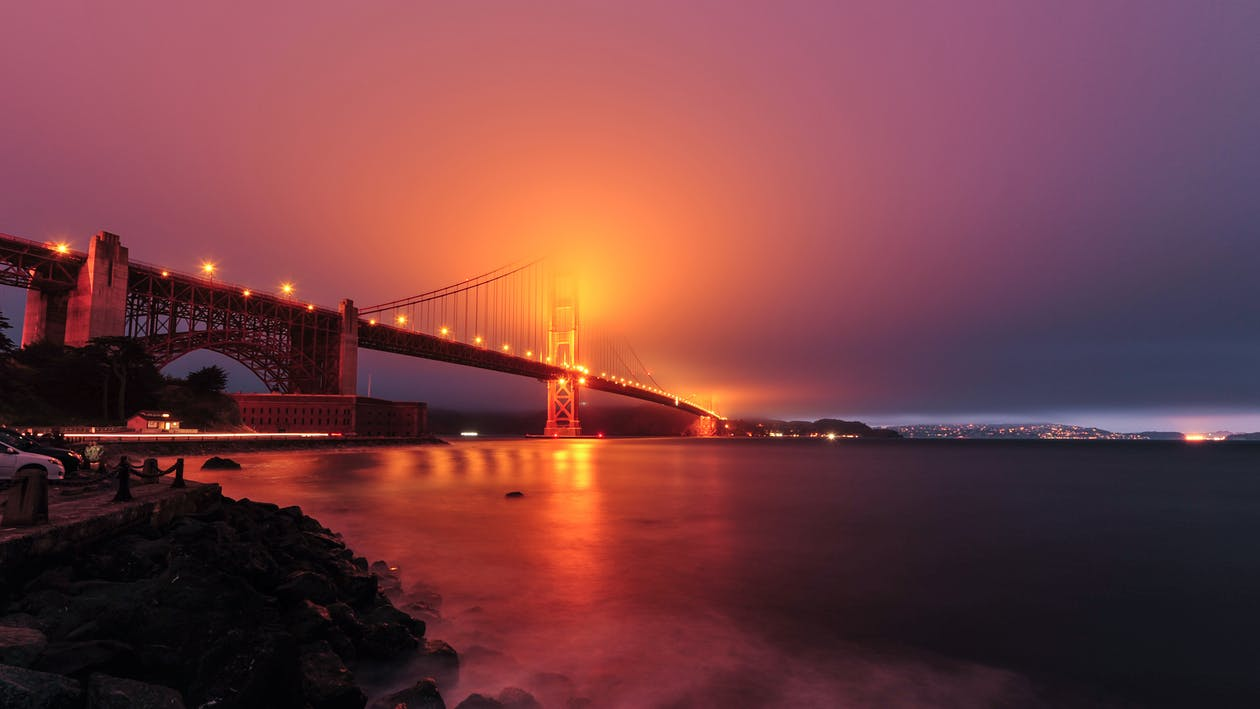 architektúra, fort point, Golden Gate