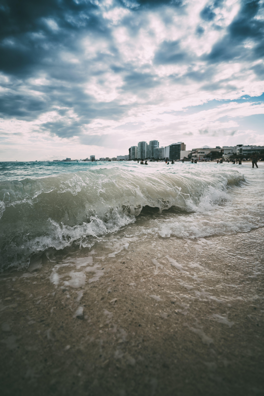 Immagine gratuita di acqua, bagnasciuga, cancun, cielo