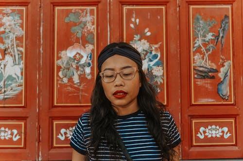 동양, 머리, 목조, 벽의 무료 스톡 사진