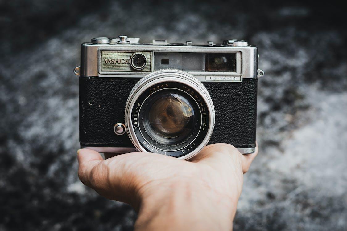Black and Grey Yashica Camera