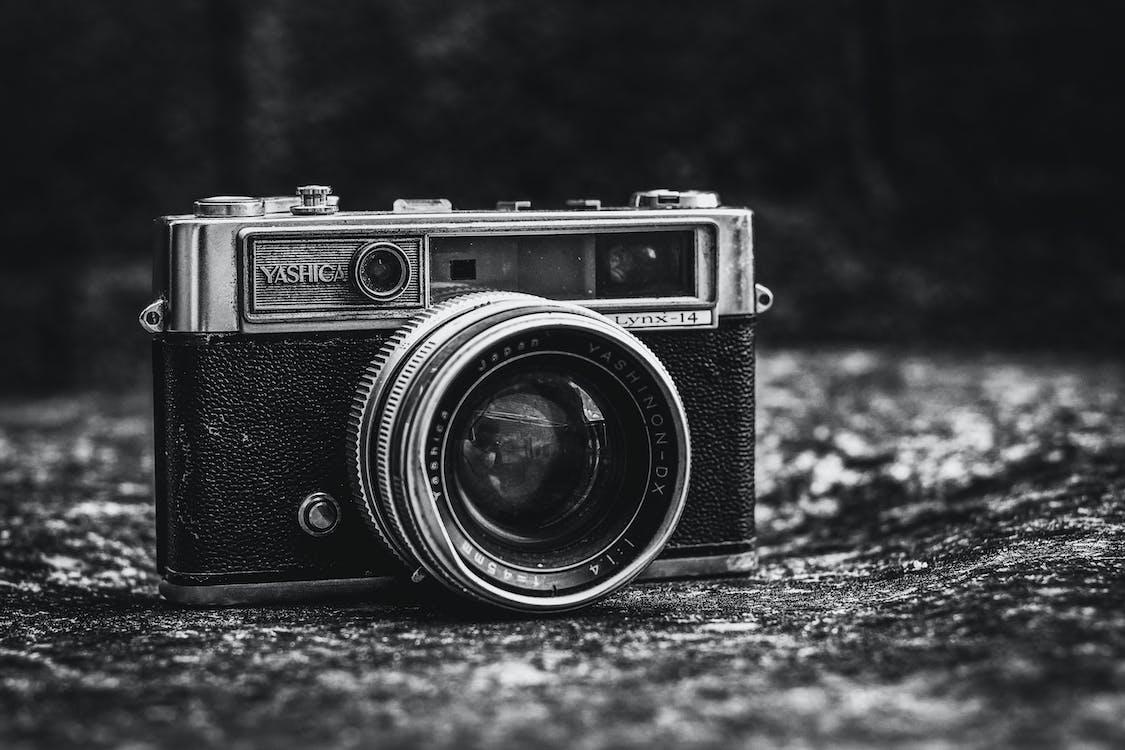 blanco y negro, cámara, cámara analógica