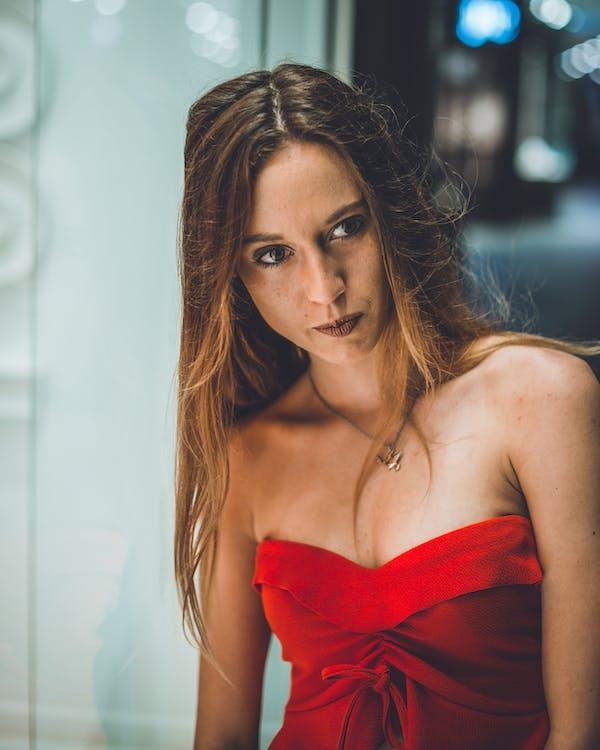 attraktiv, kvinde, mode