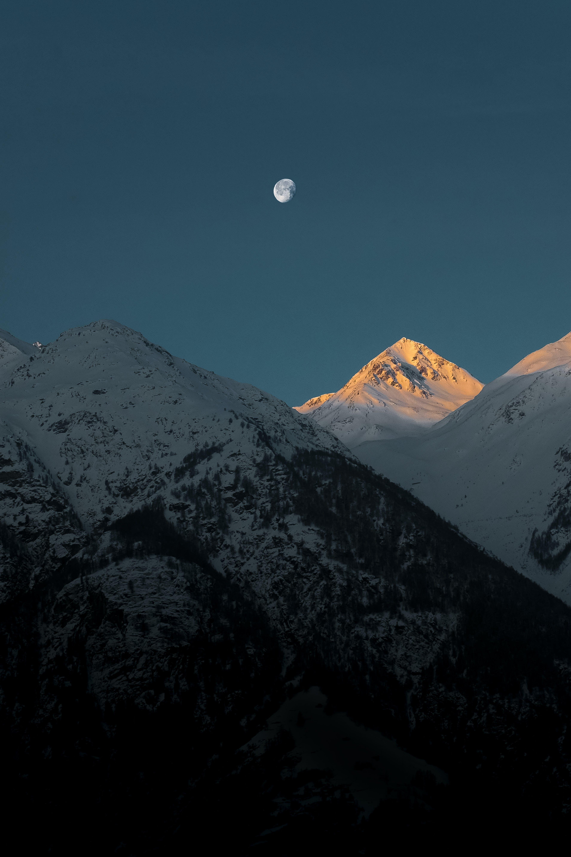 alpen, berg, dämmerung