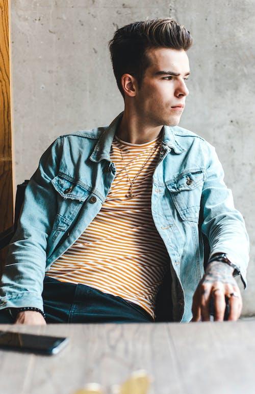 Immagine gratuita di bell'aspetto, casual, estonia, giacca di jeans