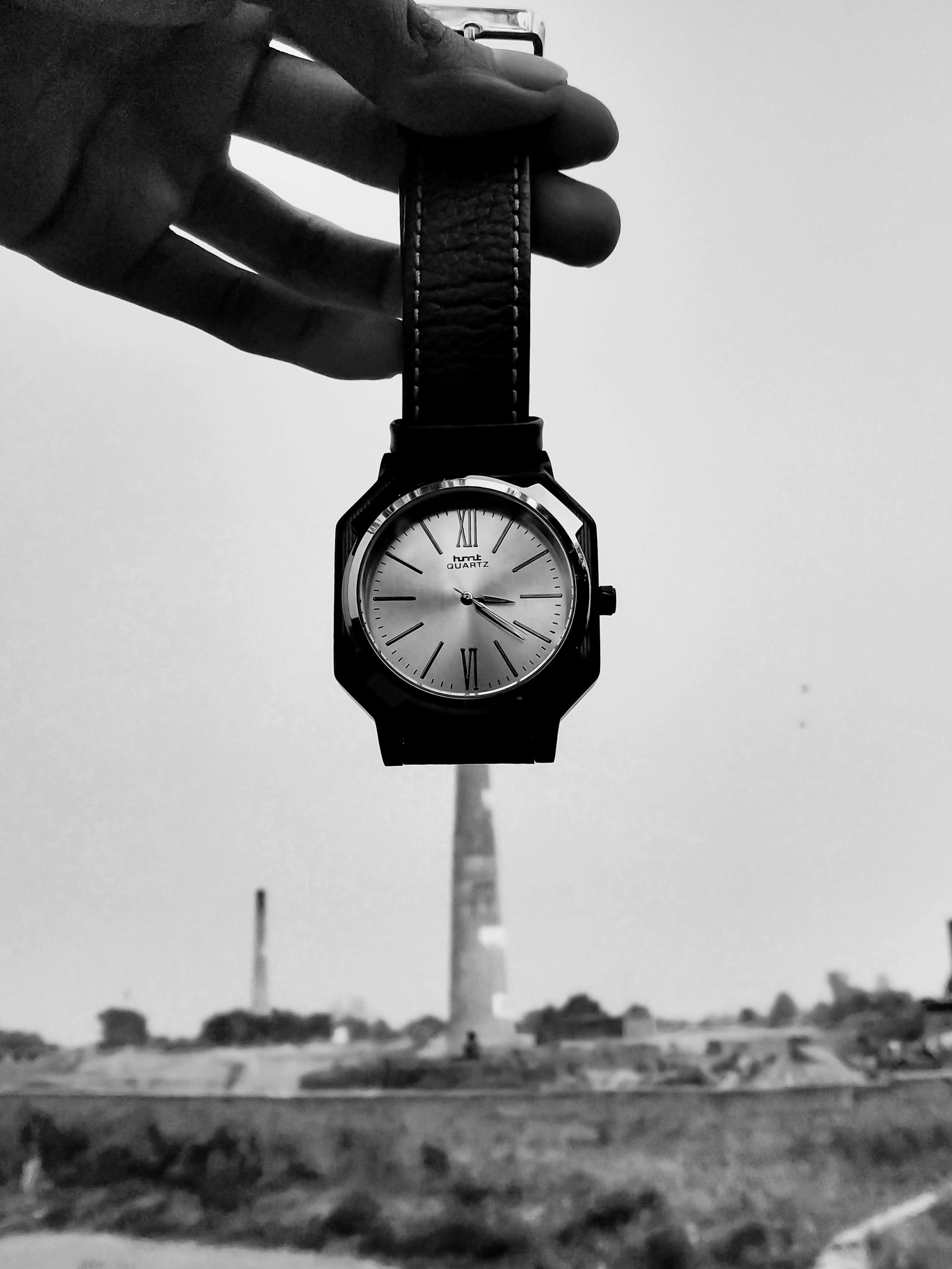 Free stock photo of black and white, blurred background, chimney, clear sky