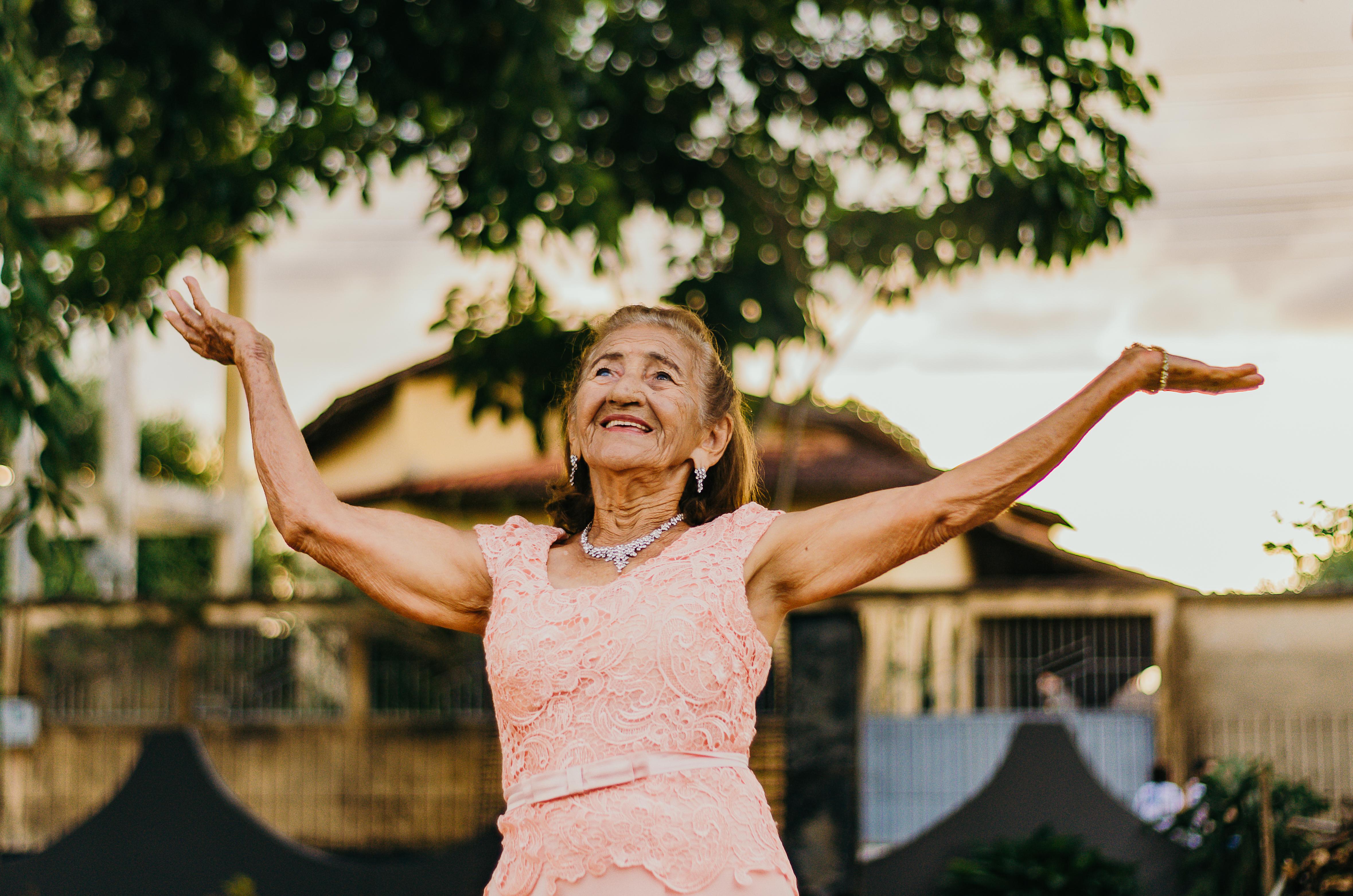 Woman Raising Her Both Hands