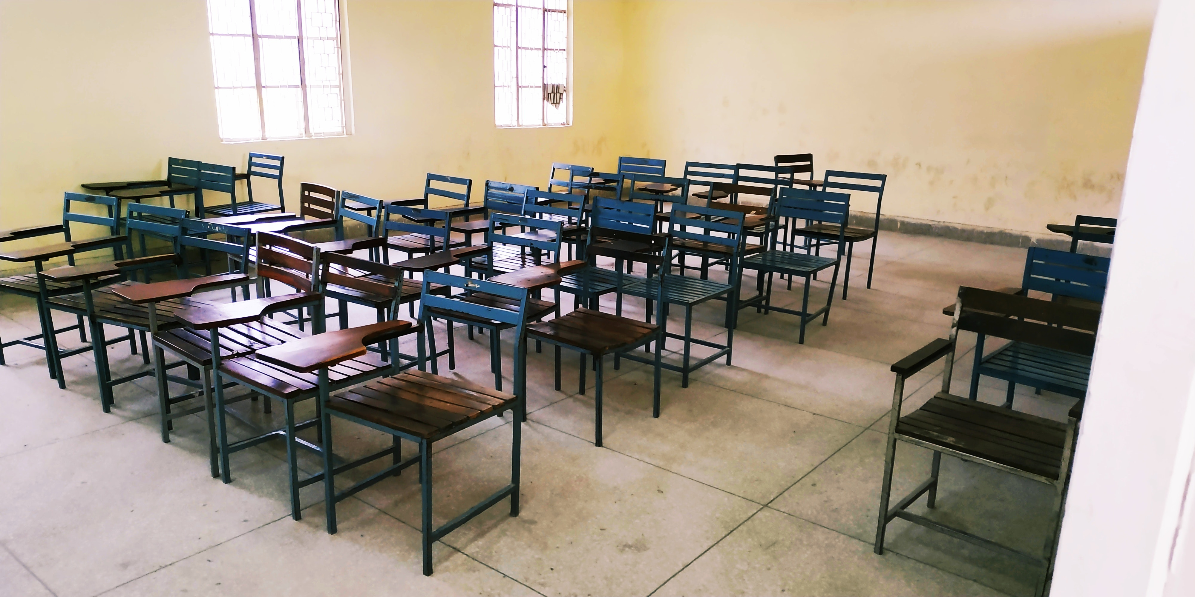 Free stock photo of armchairs, classroom, nostalgic