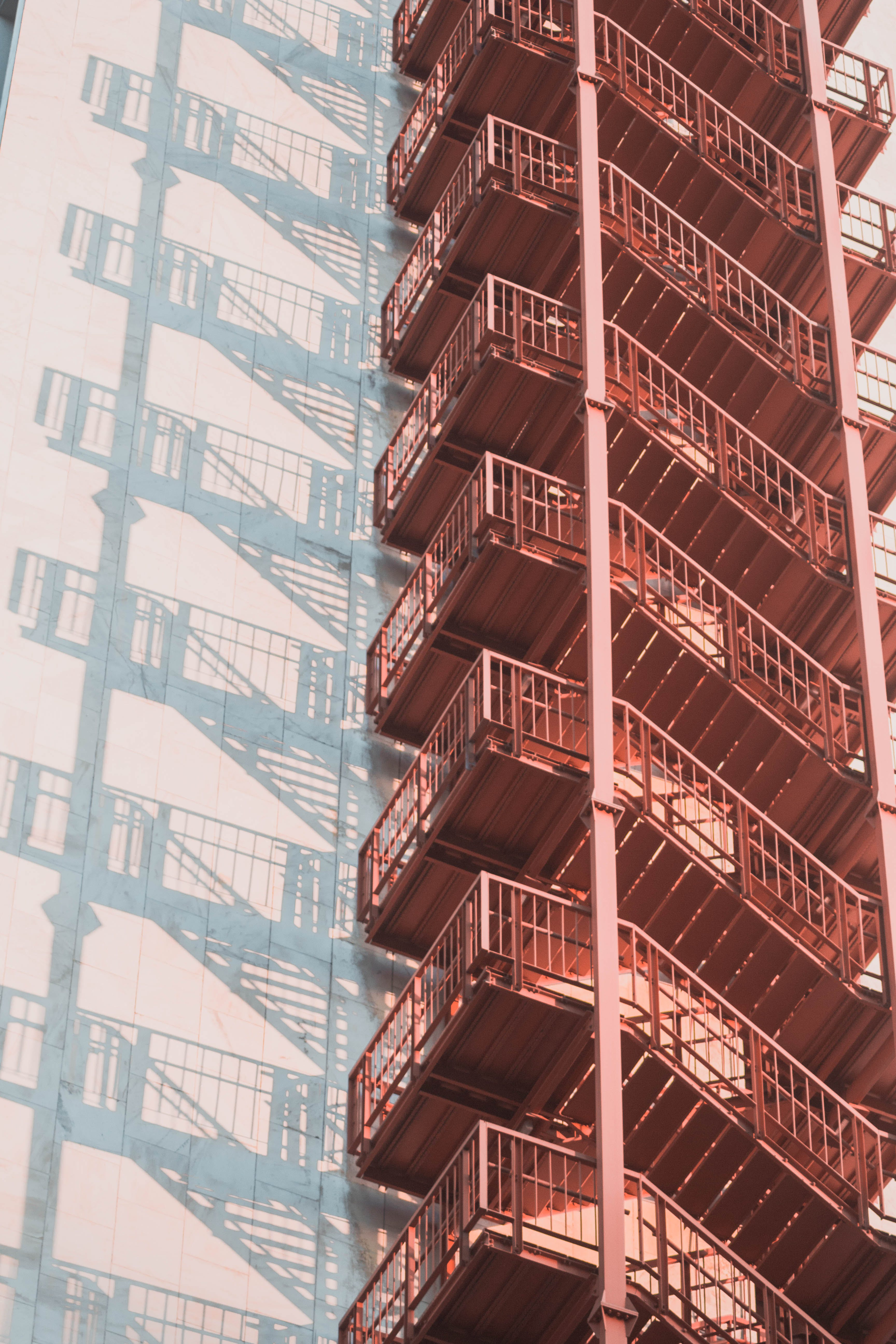 Black Metal Folding Folding Ladder