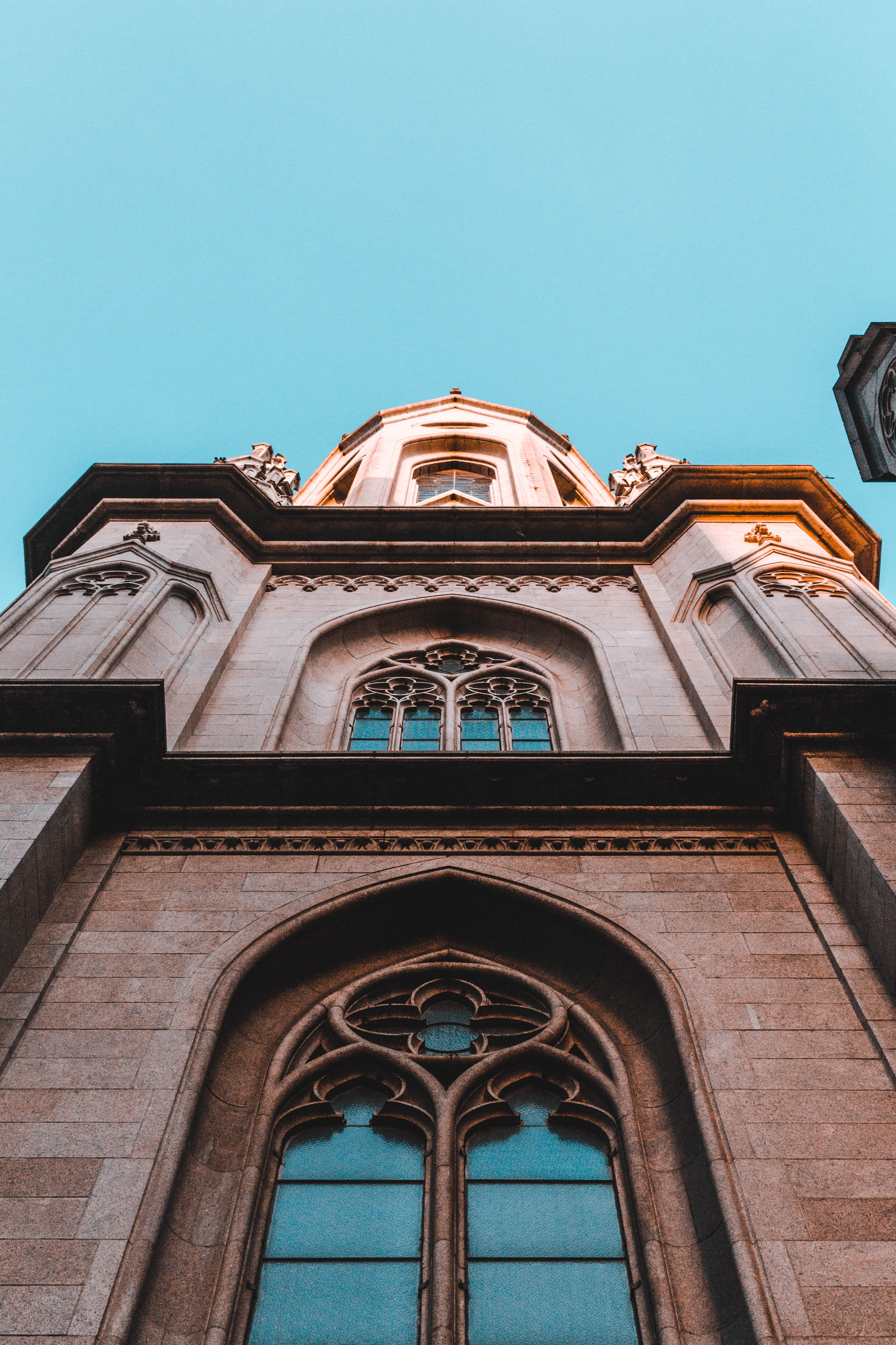Low Angle Shot Of A Cathedral