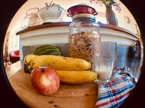 Kostenloses Stock Foto zu apfel, banane, frucht, gesund