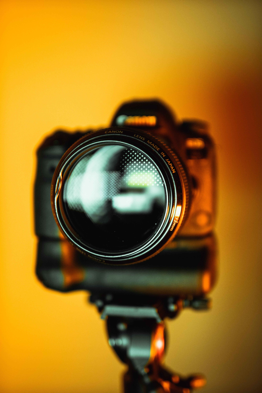 Selective Focus Photo of Camera Lens