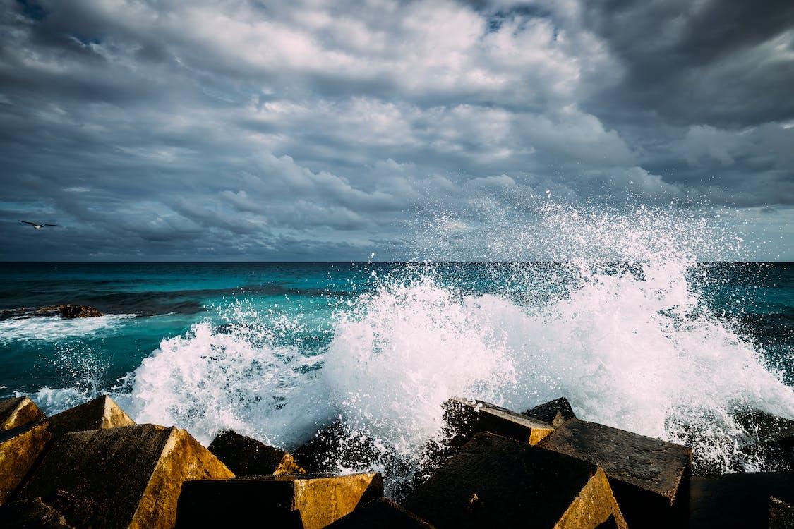 Free stock photo of crash, foam, ocean