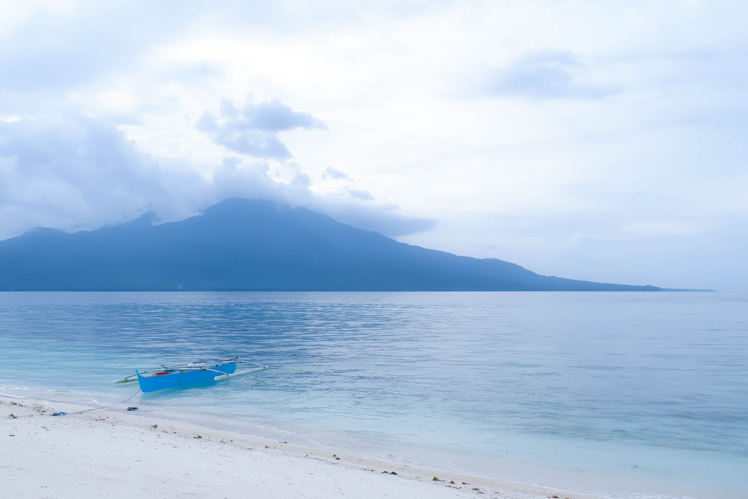 boat, mountain, sand