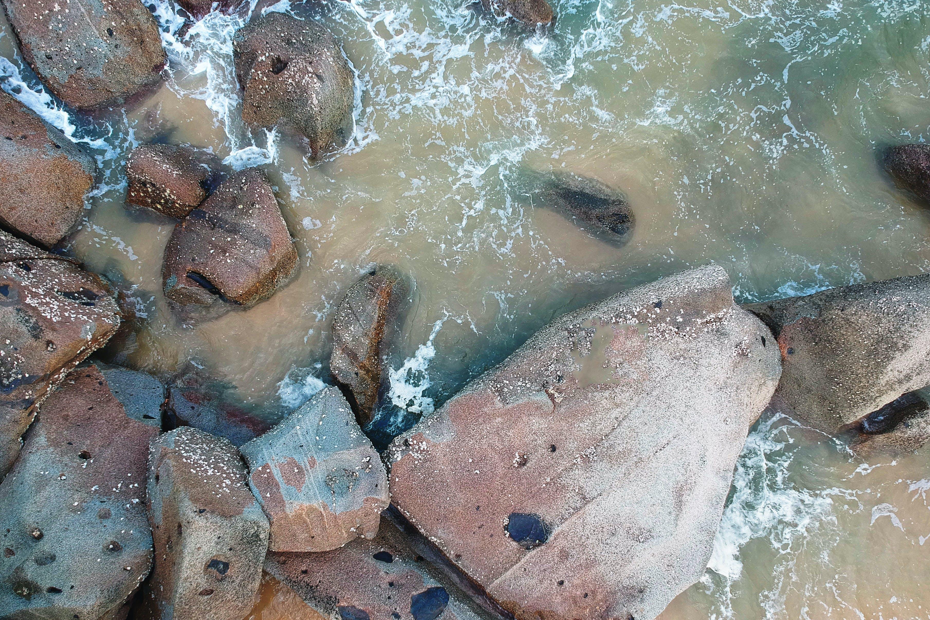 돌, 바다, 바위의 무료 스톡 사진