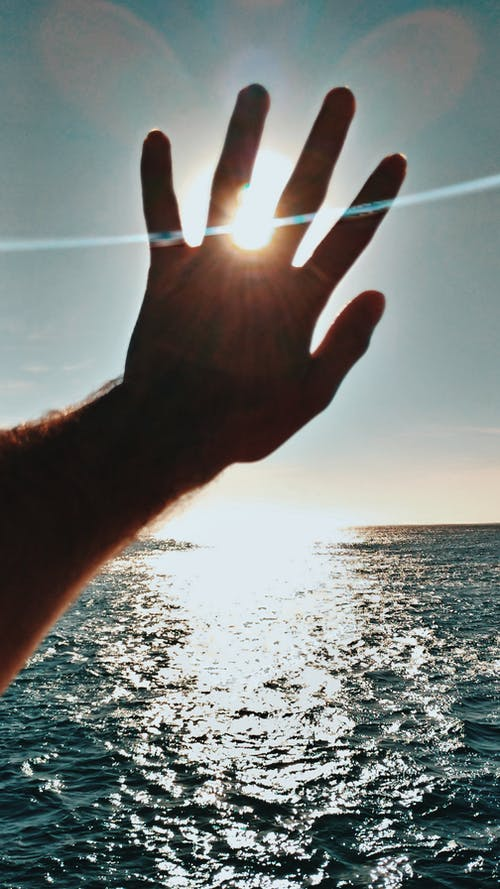 คลังภาพถ่ายฟรี ของ ซิลูเอตต์, ทะเล, มหาสมุทร, มือ