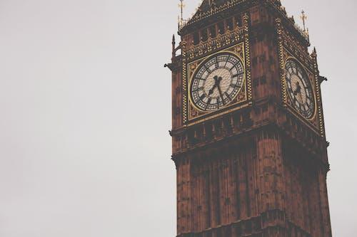 クロックタワー, ビッグベン, ロンドン, 時間の無料の写真素材