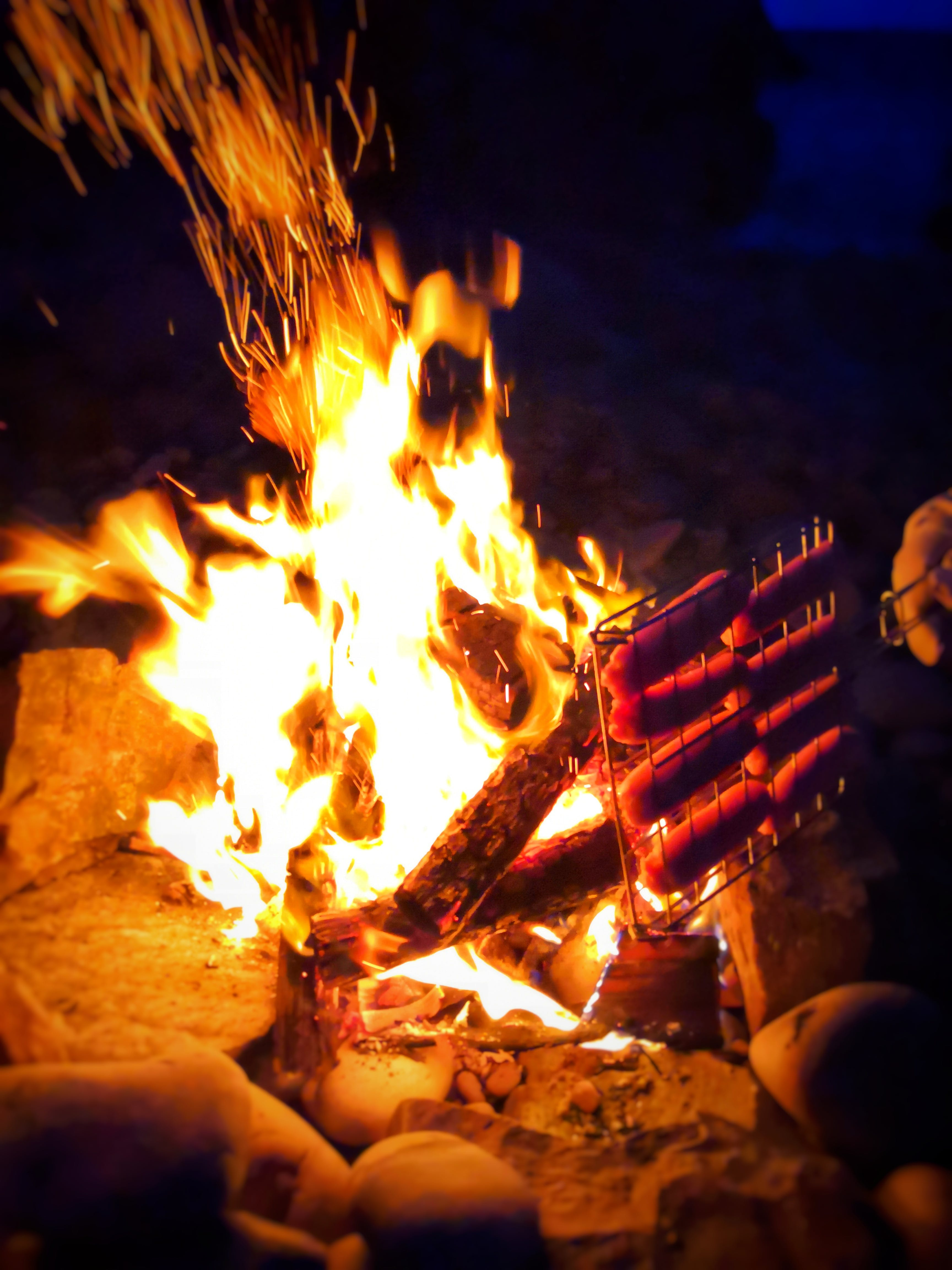 Free stock photo of camping, fire, flames, heat