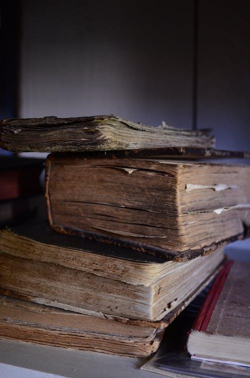 Δωρεάν στοκ φωτογραφιών με καφέ, παλιά βιβλία