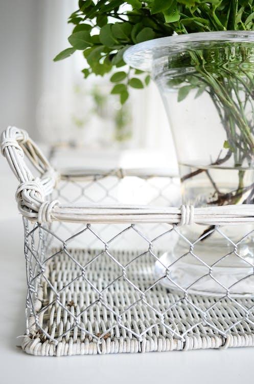 biela, dekor, detailný záber