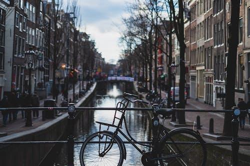 Základová fotografie zdarma na téma Amsterdam, budovy, fujifilm, jízdní kolo