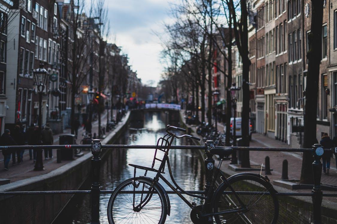 amsterdam, bicicleta, calle
