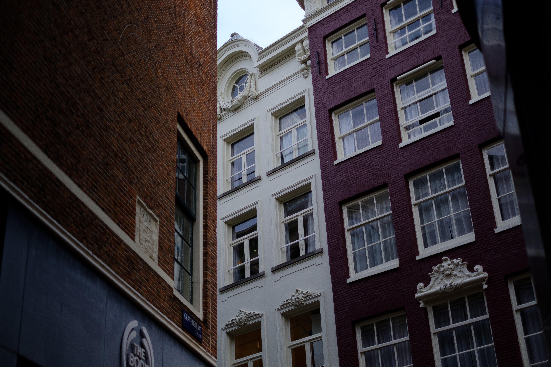 Fotos de stock gratuitas de 35 mm, amsterdam, calle, edificios