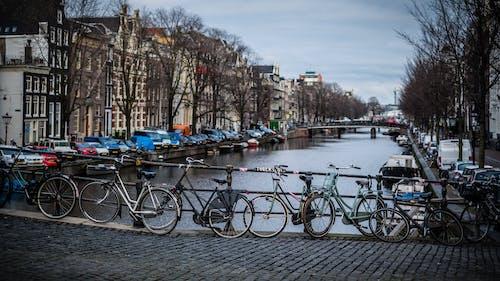 Foto d'estoc gratuïta de 35 mm, amsterdam, bicicletes, carrer