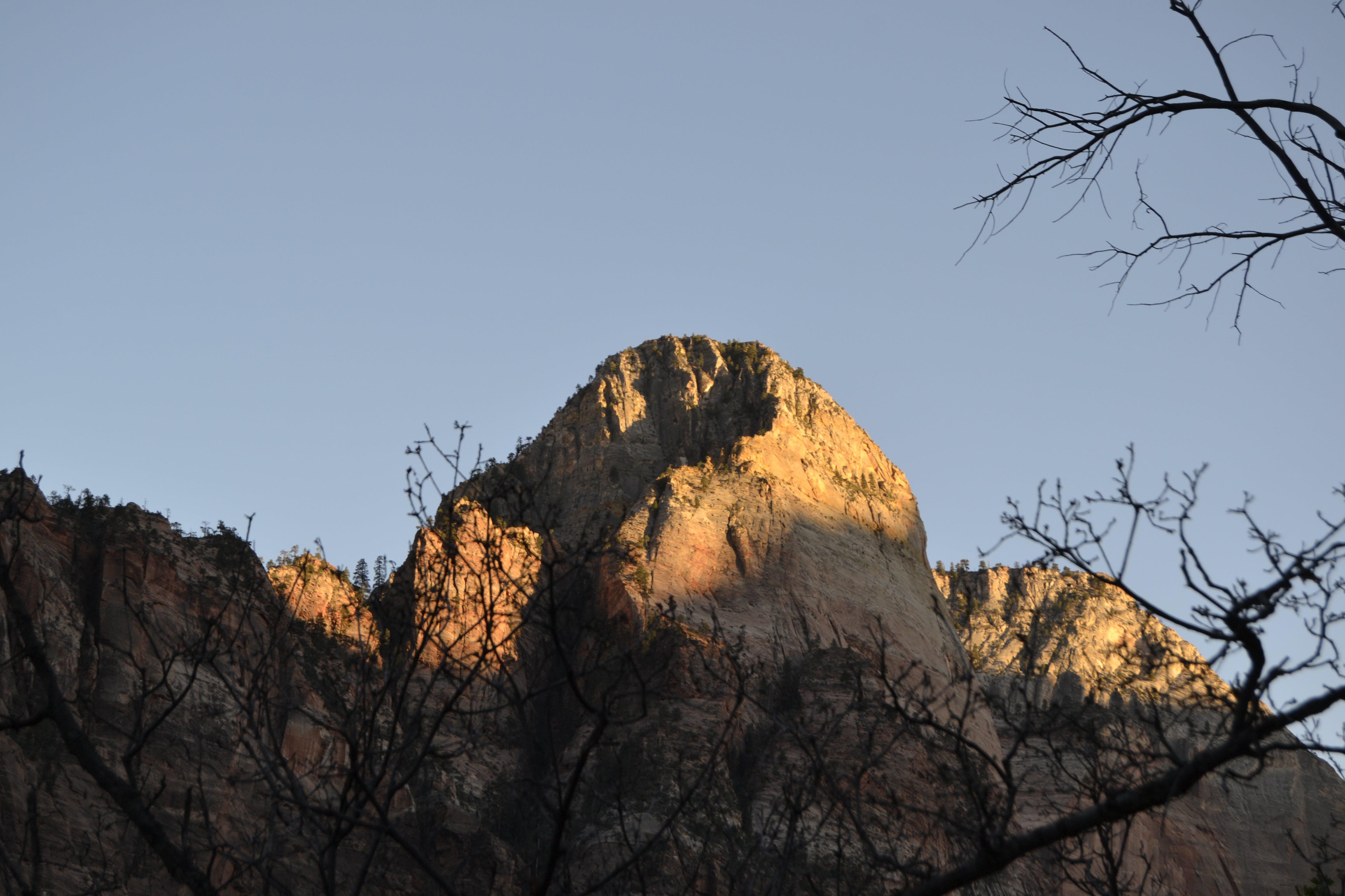Free stock photo of sunset, mountain, park, zion