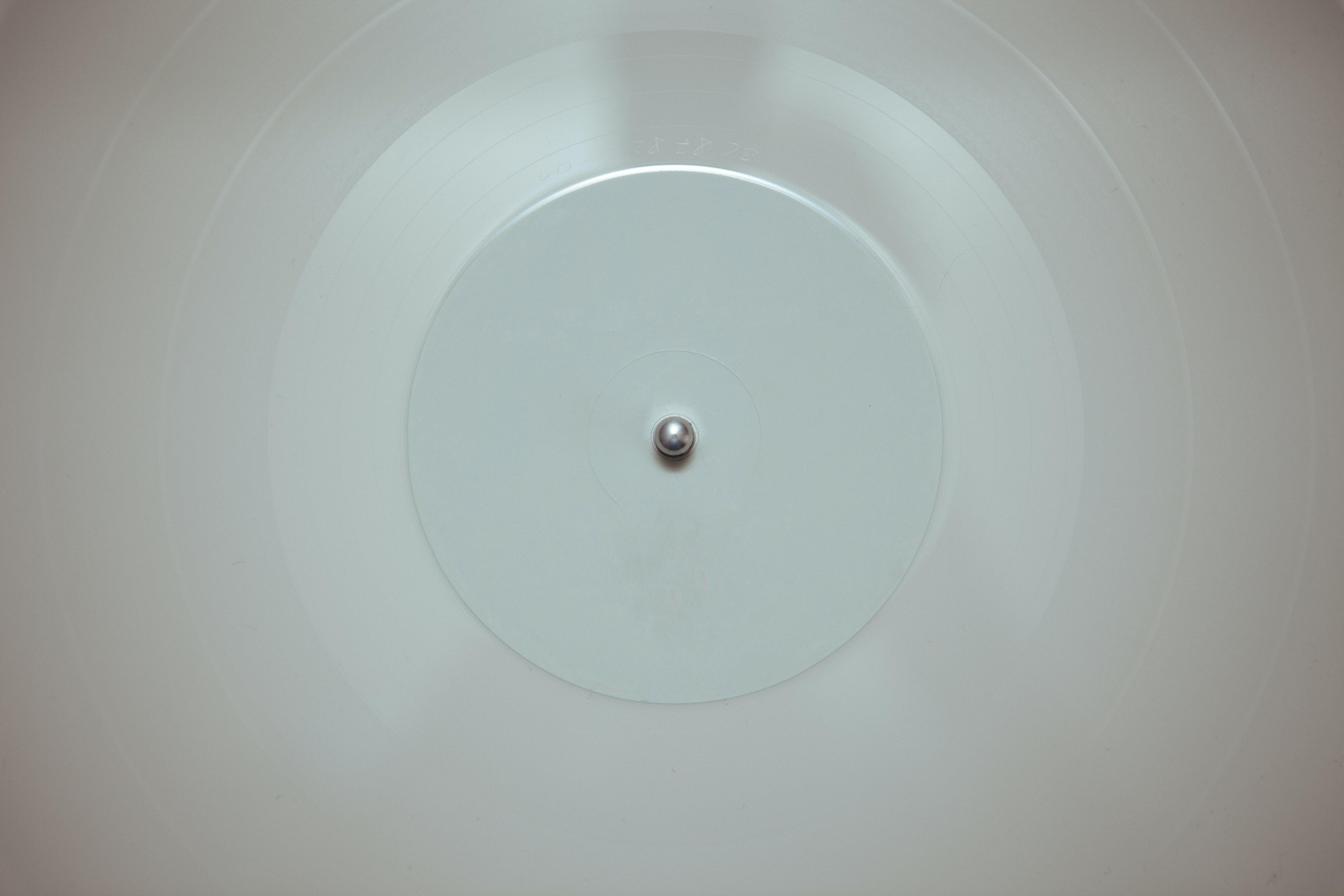 bílá, desky, gramofon