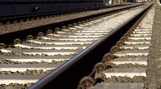 rocks, rails, train