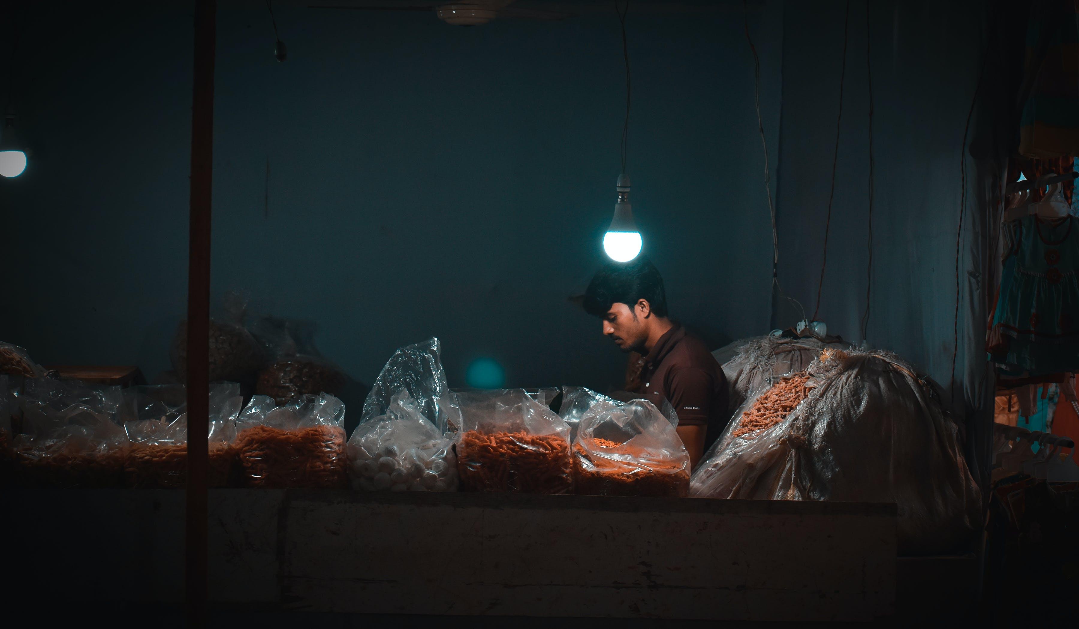 Free stock photo of black, dark, light, night city