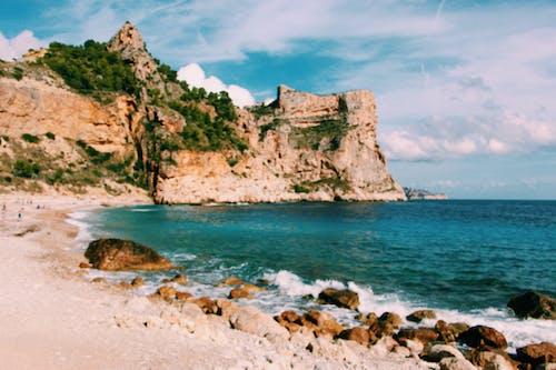 Free stock photo of beach, blue, cliff, ocean