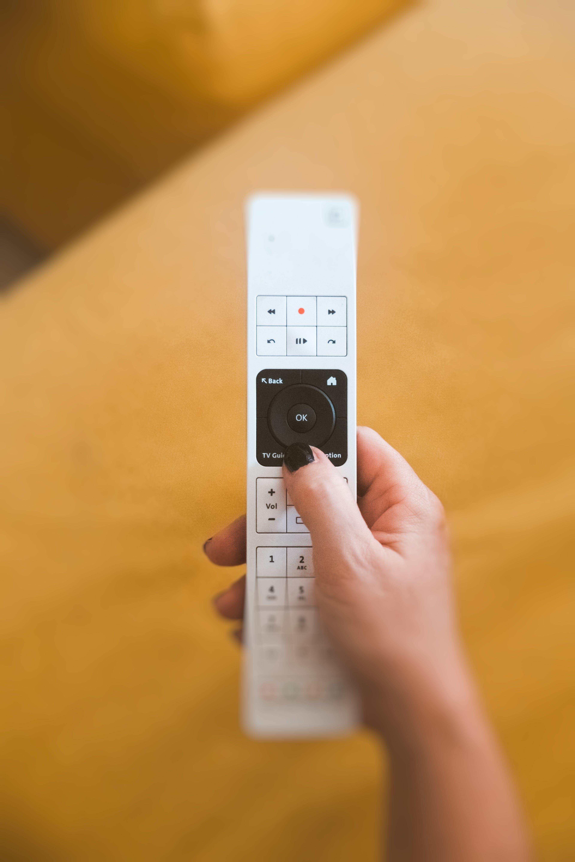 White and Black Remote Control