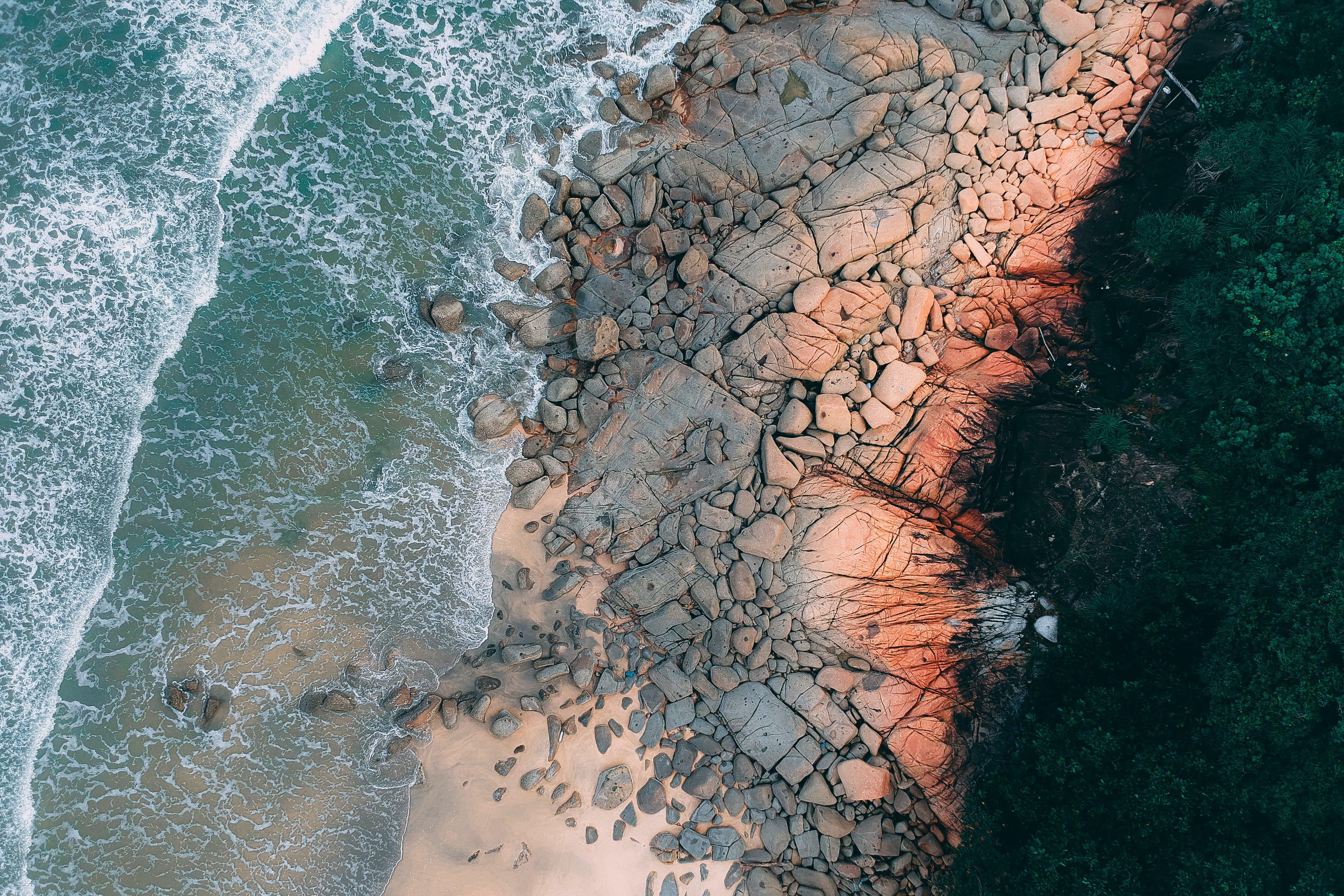Aerial Shot Of Shore