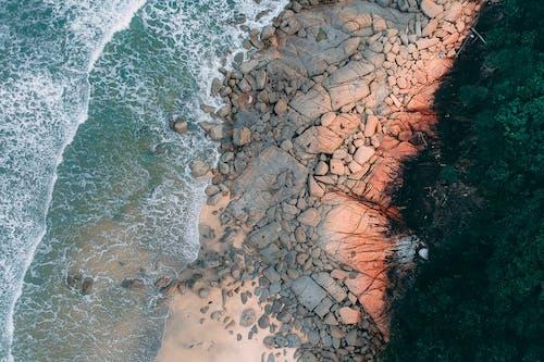 Základová fotografie zdarma na téma kameny, letecký snímek, moře, oceán