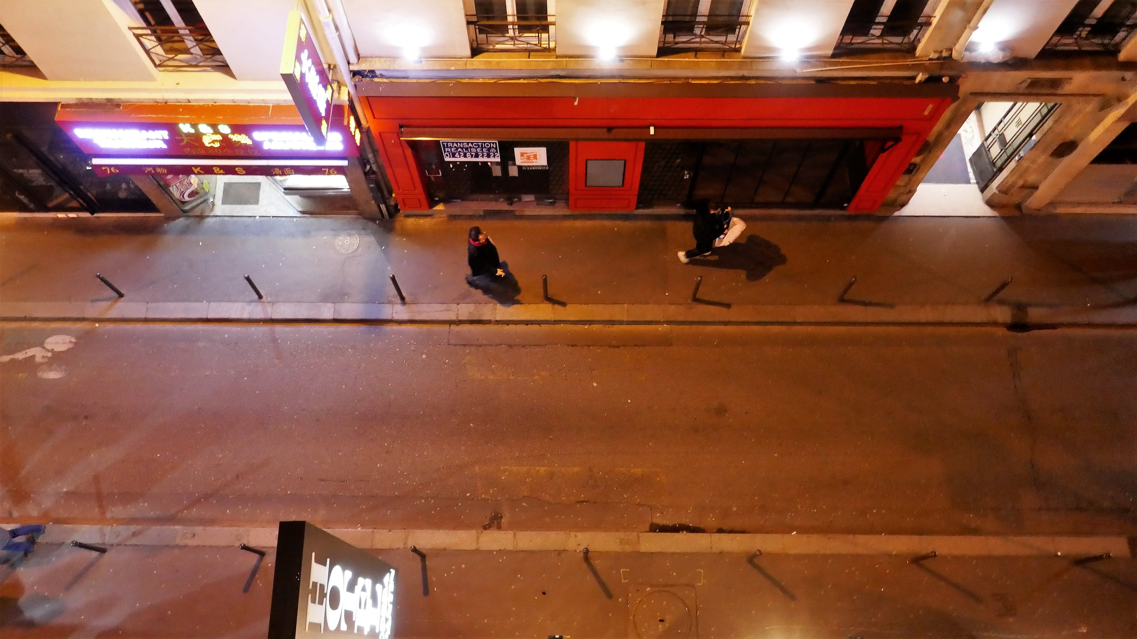 Free stock photo of Street night view from another perspective