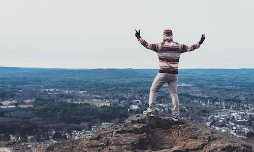 Бесплатное стоковое фото с высоты, голубой, гора, живописный